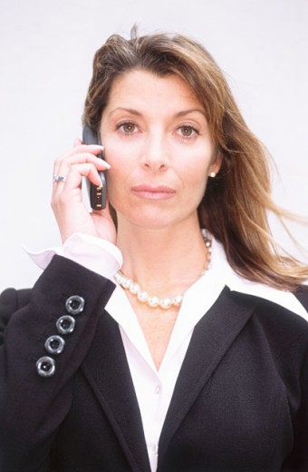 Stock Photo: 1555R-270028 Businesswoman on cell phone