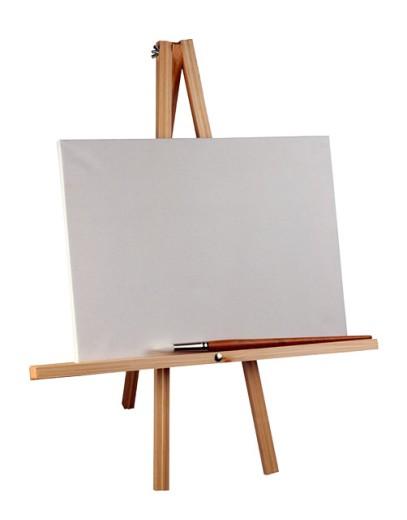 Stock Photo: 1555R-27009 Blank canvas on an easel