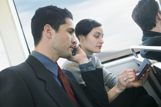 Stock Photo: 1555R-272067 Business travelers