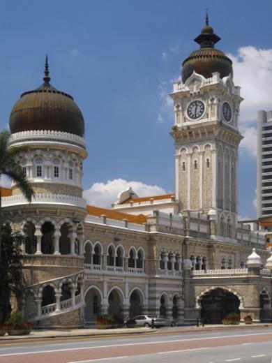 Sultan Abdul Samad building featuring Clocktower, Kuala Lumpur, Malaysia : Stock Photo