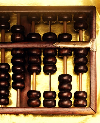 Stock Photo: 1555R-281053 Old-fashioned abacus