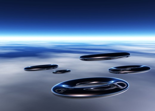 Unidentified Flying Objects : Stock Photo