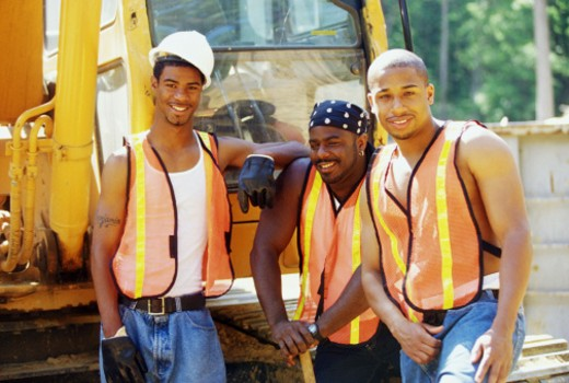 Stock Photo: 1555R-295054 Construction workers
