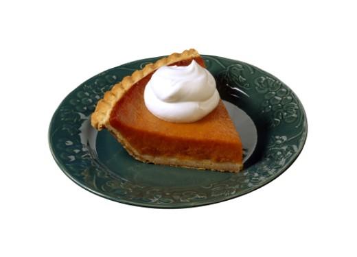 Slice of pumpkin pie : Stock Photo