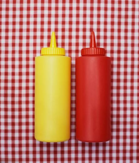 Mustard and Ketchup : Stock Photo