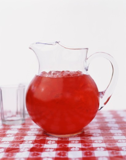 Pitcher of Red Beverage : Stock Photo