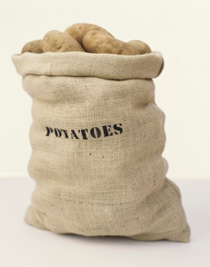 Sack of Potatoes : Stock Photo