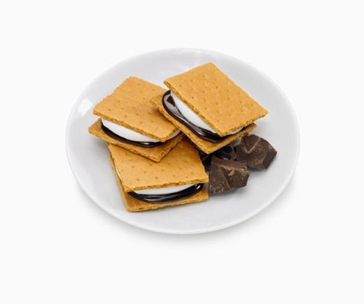 Stock Photo: 1555R-304953 S'mores on plate