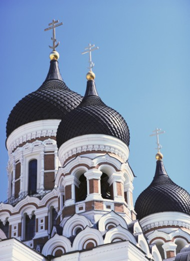 Onion Domes on Alexander Nevsky Cathedral in Tallinn, Estonia : Stock Photo