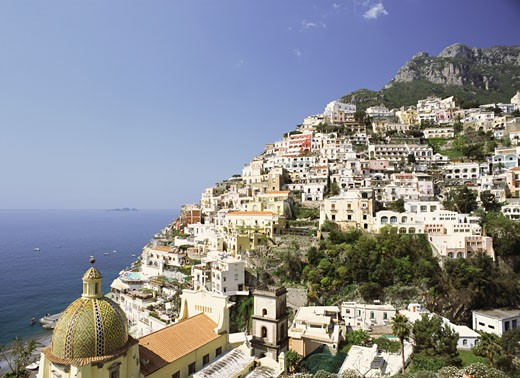 Stock Photo: 1555R-307749 Cityscape of Positano, Italy