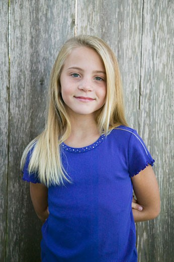 Stock Photo: 1555R-313555 Portrait of blonde girl