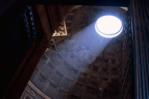 Stock Photo: 1555R-313811 Interior of Pantheon, Rome, Italy