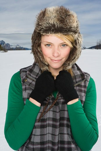 Stock Photo: 1555R-314149 Portrait of woman in winter attire