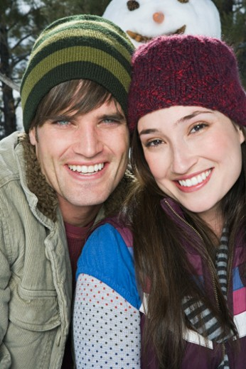 Stock Photo: 1555R-314185 Portrait of couple in winter attire