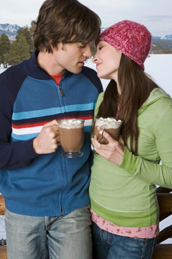 Couple about to kiss : Stock Photo