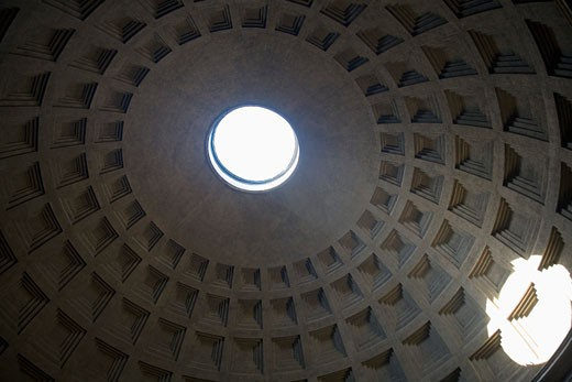 Pantheon Dome interior, Rome, Italy : Stock Photo