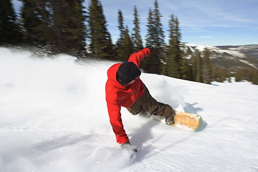 Snowboarder falling : Stock Photo