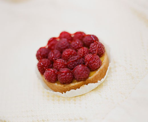 Raspberry tart : Stock Photo