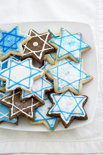 Stock Photo: 1555R-315676 Star of David cookies