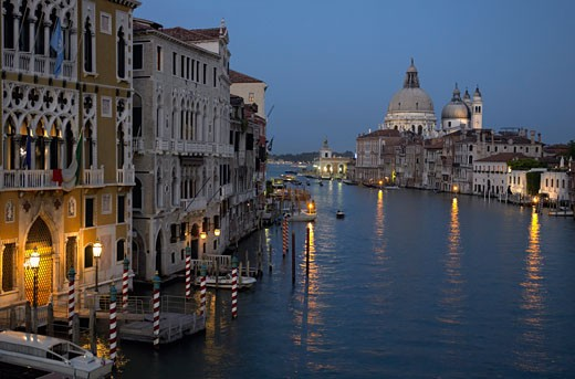 Basilica di Santa Maria della Salute and Grand Canal, Venice, Italy : Stock Photo