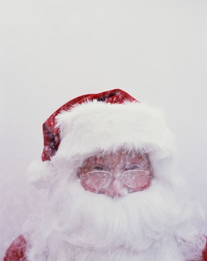 Stock Photo: 1555R-318972 Santa in the Snow
