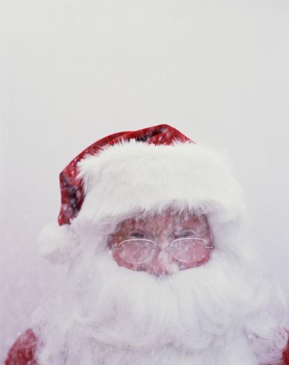 Santa in the Snow : Stock Photo
