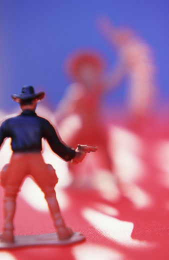 Stock Photo: 1555R-319227 Cowboy figurine