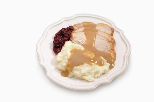 Turkey and mashed potatoes : Stock Photo