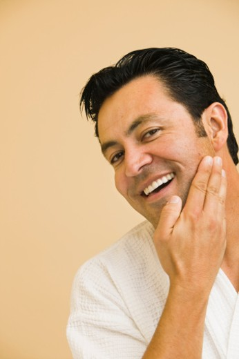 Stock Photo: 1555R-320067 Man feeling face