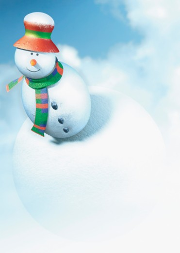 Snowman stationary : Stock Photo