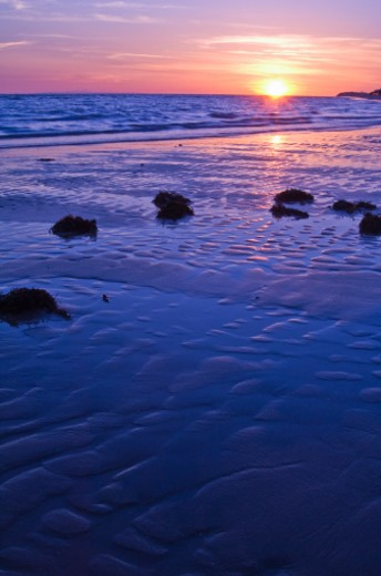 Stock Photo: 1555R-321993 Sunrise, Gulf of California