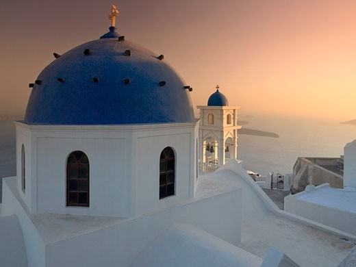 Church Domes, Oia, Santorini, Greece : Stock Photo
