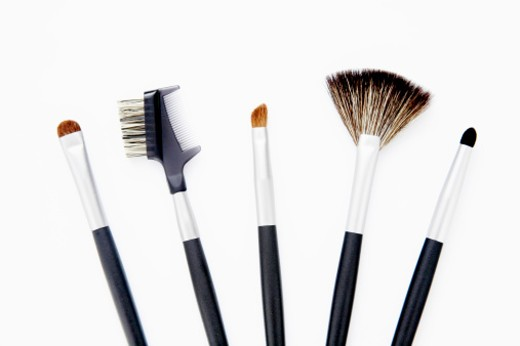 Stock Photo: 1555R-324604 Assortment of makeup brushes