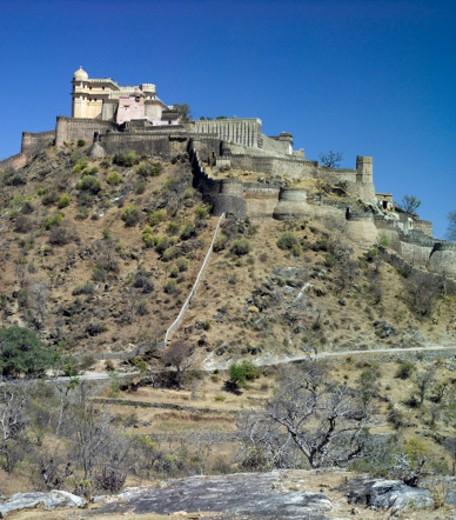 Kumbhalgarh Fortress, Rajasthan, India : Stock Photo