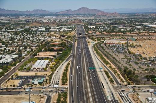 US-60 and I-10 in Phoenix, Arizona : Stock Photo