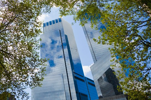 Stock Photo: 1555R-330219 Time Warner Building, New York