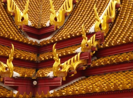 Stock Photo: 1555R-332155 Thai roof design in Bangkok, Thailand