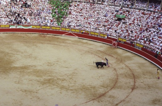 Bullfighting ring in Pamplona, Spain : Stock Photo