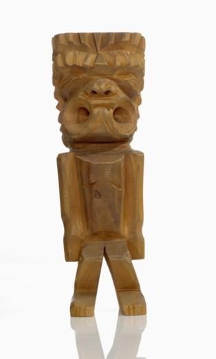 Polynesian Tiki carving : Stock Photo