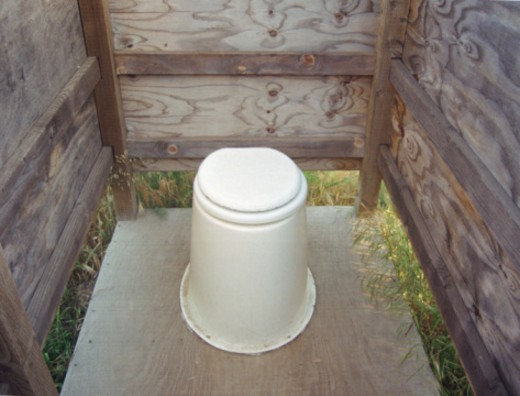 Stock Photo: 1555R-333655 Outdoor pit toilet