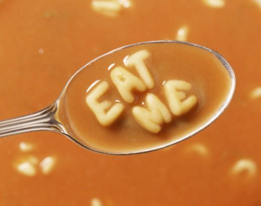 Stock Photo: 1555R-334551 Alphabet soup