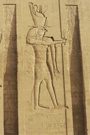 Sculpture at Edfu Temple, Cairo, Egypt : Stock Photo