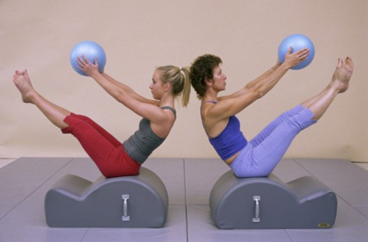 Stock Photo: 1555R-334881 Women exercising