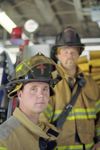 Portraits of firemen : Stock Photo