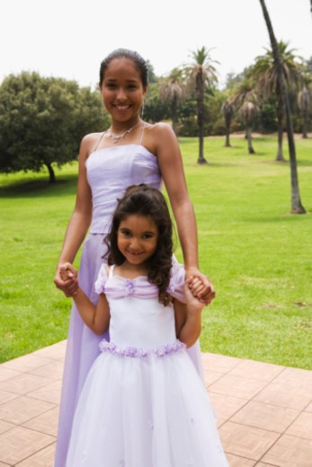 Stock Photo: 1555R-336171 Girls at quinceanera