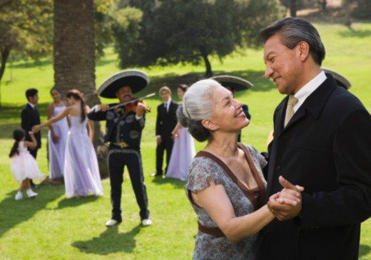Stock Photo: 1555R-336184 Couple dancing at quinceanera