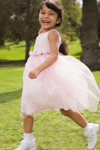 Playful girl at quinceanera : Stock Photo