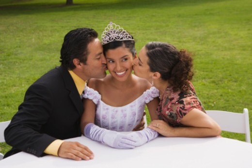 Family at quinceanera : Stock Photo