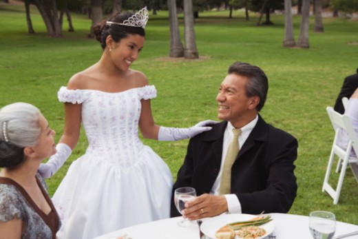 People at quinceanera : Stock Photo
