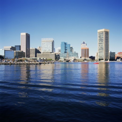 Stock Photo: 1555R-337091 Baltimore skyline, Maryland